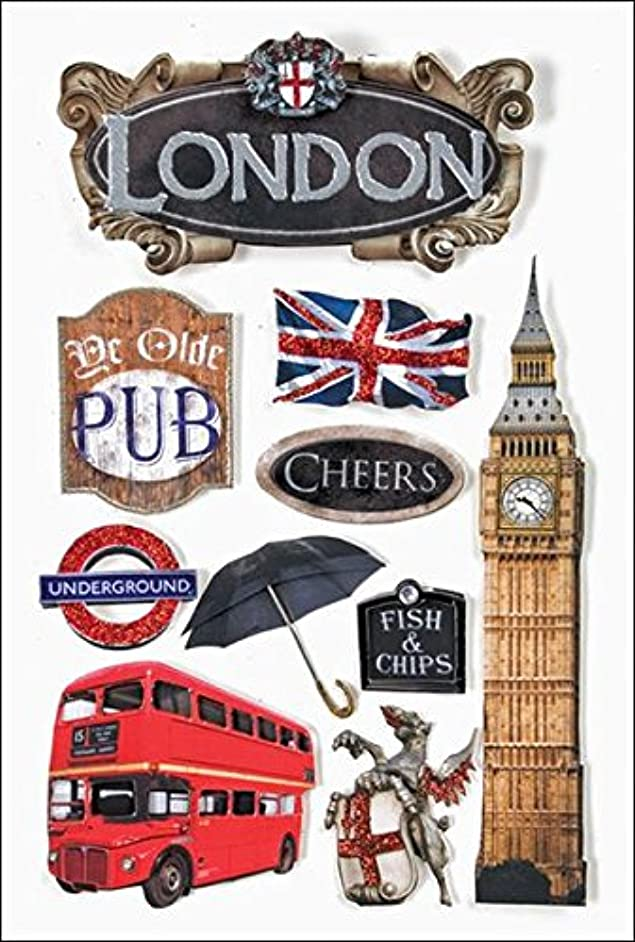 Paper House 3D Stickers 4.5-Inch-by-7.5-Inch -London