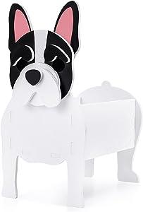 Fitcho Cute Dog Planter, Planter Pot, Flower Pot for Garden Decoration, Corgi Bulldog Shape Plant Container, Holder for Outdoor Indoor Plants, Storage Container for Plants and Stuff Small Bulldog