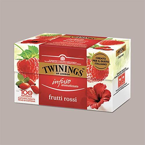 LUCGEL Srl (1 pz) 20 Filtri per Infuso ai Frutti Rossi a base di Frutta Erbe e Spezie TWININGS