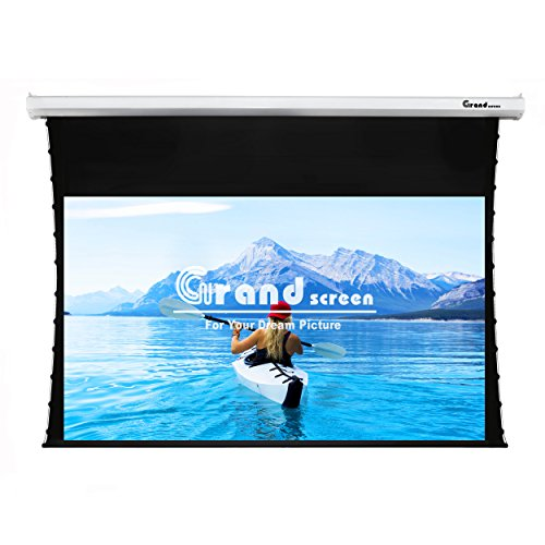 Grand Screen 4K/3D/UHD Deluxe Tab-tensioned Projector Screen,92-inch Diagonal 16:9,with PET White Screen MaterialModel 6JGZP92H