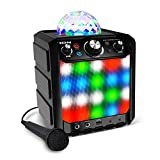 ION Party Rocker Effects – Portable Bluetooth Speaker Machine with Karaoke Microphone, Battery Operation and 40W Power
