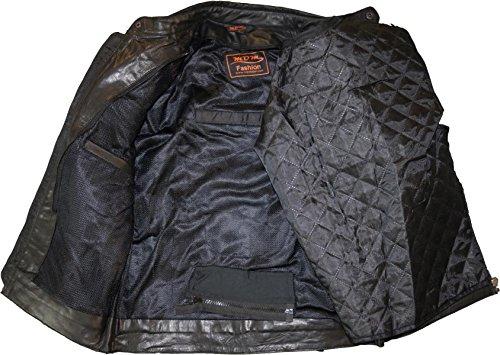 Motorrad Retro Lederjacke aus echtem Leder (L) - 5