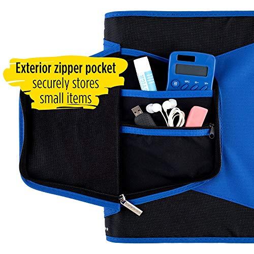 Five Star Zipper Binder, 1-1/2 Inch 3 Ring Binder, 3-Pocket Expanding File, Durable, Blue (72202) Photo #3