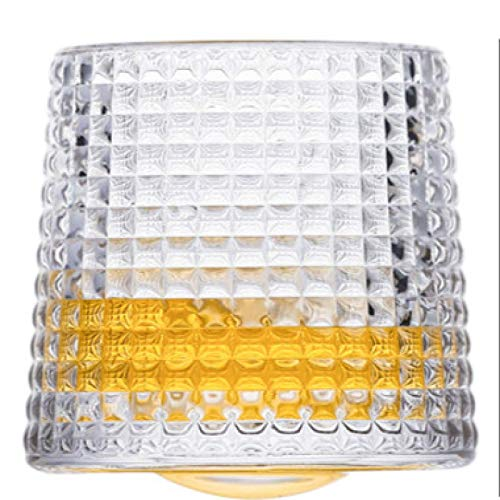 YUEZPKF Personalidad Whisky Glasspinning Whisky Glass Whisky Tumblers, WiDing Fashioned Scotch & Bourbon Glasses   Otro Vaso (Color : Square, Size : 160ml)