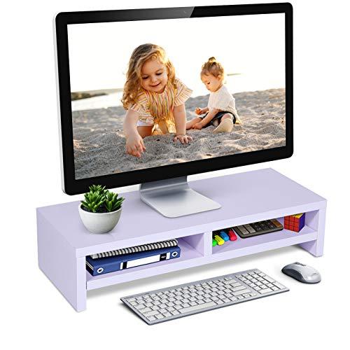 Ejoyous Monitorständer, Bildschirmständer mit stauraum Monitorständer Bildschirmerhöhung Schreibtischaufsatz Organizer mit Stauraum, 50x20x11,7cm