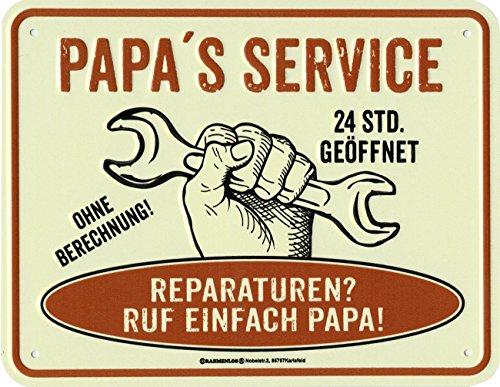 Close Up Papa's Service Blechschild 22x 17cm, gewölbt und geprägt, mit Befestigungslöchern