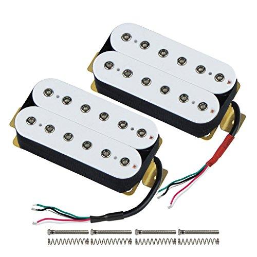 IKN - Juego de pastillas Humbucker de doble bobina para guitarra, mástil/puente...