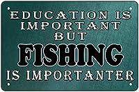 レトロ金属スズマーク戦術面白い漁船金属スズマーク壁装飾人洞窟バー教育は魚12x8インチ