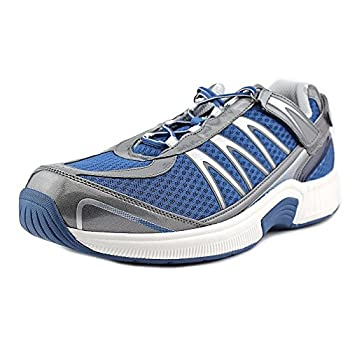 Orthofeet Proven Plantar Fasciitis and Foot Pain Relief Arthritis Diabetic Shoes Extended Widths Best Orthopedic Men's Sneakers Sprint Blue