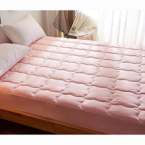 Yuan Ou Mattress 100% Cotton Mattress Adult Single Double Bed Mat Tatami Mattress Multi-size Anti-skid Student Dormitory Bed Mat 180x200cm pink