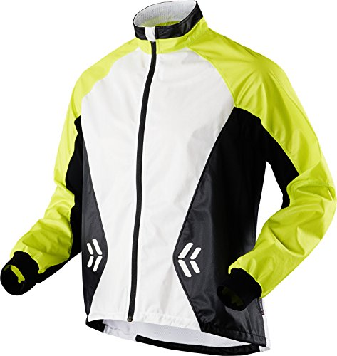 X-Bionic Running aE Adulte imperméable uPD spherewind Veste pour Homme M Multicolore - Green Lime/White/Black