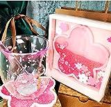 TAOT Lovely Cat's Claw 6oz Sakura Cup Glass w/Pink Sakura Coaster & Stick & lid,cat paw Cups,Tea Set, Ladies Tea Set, Latte Cup—Four-Piece Suit
