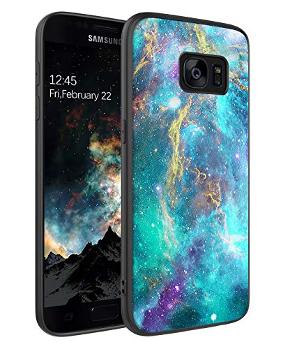 BENTOBEN Galaxy S7 Case, Phone Case Samsung S7, Slim Fit Glow in The Dark Shockproof Protective Hybrid Hard PC Soft TPU Bumper Drop Protection Non-Slip Girls Women Covers for Samsung S7, Nebula Design