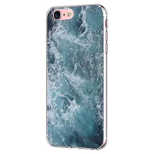 Pacyer Case kompatibel mit iPhone 7 Hülle iPhone 8 Hülle Silikon Ultra dünn Transparent Handyhülle Durchsichtige Rückschale TPU Schutzhülle für Apple iPhone 7/8 Cover Marmor (10)