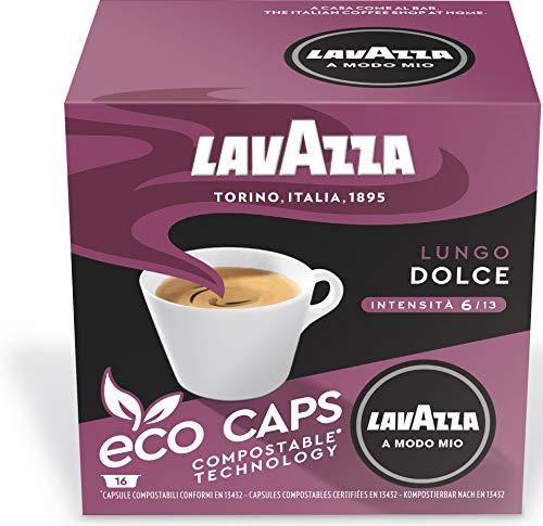 Lavazza A Modo Mio Lungo Dolce Coffee Capsules (5 Packs of 16)