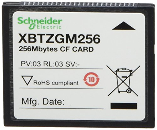 Schneider XBTZGM256 Compact Flash-geheugenkaart, 256 MB, XBT-GH