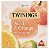 Twinings White Peach and Orange Herbal Tea bags - 20 Tea bags