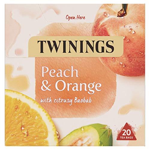 Twinings White Peach and Orange Herbal Tea bags, 20 Tea bags