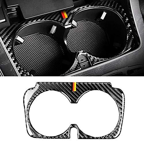 QQSGBD Titular de Fibra de Carbono Central del Coche de Control Taza de Agua de Ajuste de la Cubierta for Mercedes-Benz C GLC Clase E W205 W213 X253 2015-2019 Trim Accesorios
