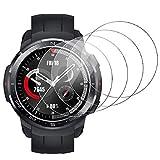 RSSYTZ [4 Unidades Protector de Pantalla para Honor Watch GS Pro 35mm [9H Dureza] [Impermeable] [antiburbujas] Cristal Templado para Honor Watch GS Pro 35mm