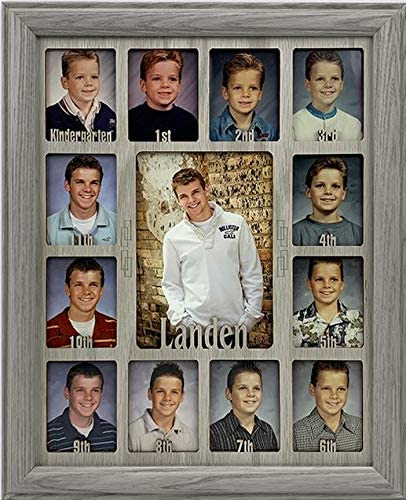 Northland School Years Picture Frame Personalized Holds Twelve 2 5 x 3 5 School Photos and 5 product image