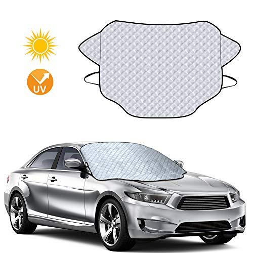 rabbitgoo Sonnenschutz Auto Faltbare Sonnenblende Frontscheibenabdeckung für UV Schutz (147 x 116 cm)