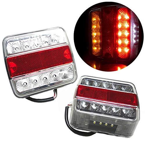 2pcs 12V 16LED feux indicateurs de queue inverser les lampes pour Tailer Truck Bus Van