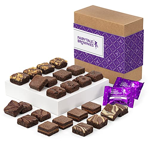 Fairytale Brownies Magic Morsel 24 Individually Wrapped Gourmet Chocolate Food Gift Basket - 1.5...