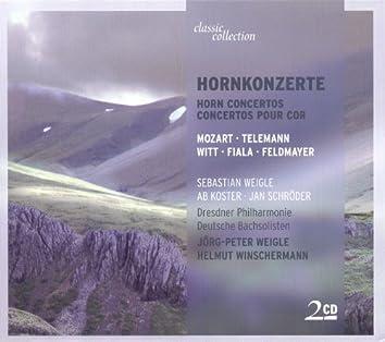 Mozart: Horn Concertos - K. 412, 417, 447, 495 / Telemann, G.P.: Ouverture (Suite) in F Major / Fiala, J.: Concerto for 2 Horns