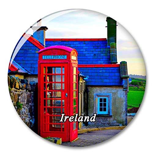 Cabina telefonica rossa dell'Irlanda Magnete del frigorifero Magneti decorativo Apribottiglie Tourist City Travel Souvenir Collection Regalo Forte adesivo per frigorifero
