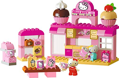 BIG-Bloxx Hello Kitty Bäckerei - Bausteinset mit 82 Teilen inkl. 2 Hello Kitty Spielfigur, verbaubar mit bekannten Spielsteinen für Kinder ab 1,5 Jahren
