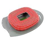 JXS Puzzle Allianz Arena 3D - Modello di Città Giocattoli educativi - Bayern Monaco Alianz Stadio - 40 × 28.5 × 7.3cm