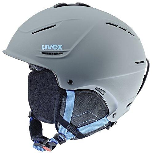 Uvex Unisex Erwachsene P1Us Skihelm, Grey-Blue Mat, 59-62 cm