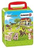 Theo Klein-3113 Schleich farm world maletin para coleccionar 18 animales, juguete, color surtido (3113)