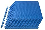 ProsourceFit Exercise Puzzle Mat 1/2' - Blue