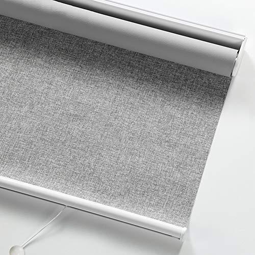 Rullgardiner mörkläggning fönstergardiner hög skuggning fjäder lyft gardin anti-UV andningsbart sekretessskydd persienner, anpassad storlek (färg: A, storlek: 70 x 150 cm)