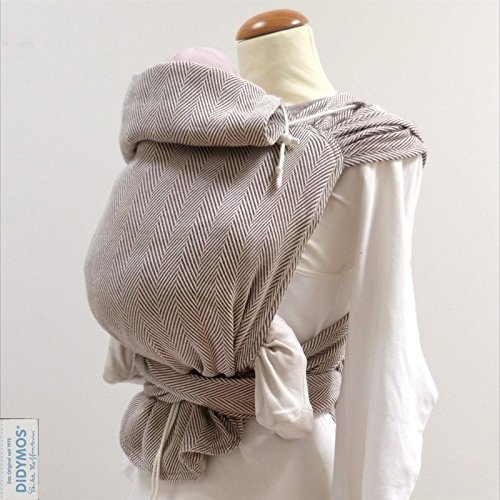 DIDYMOS Meh-Dai/Mei Tai (DidyTai) Baby Carrier Lisca Pastell (Organic Cotton), One Size