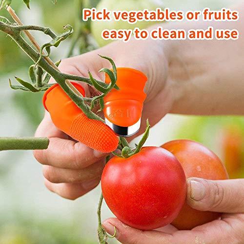Finger Messer,Garten Silikon Daumenmesser Separator Ernte Pflanze Messer Pflanze Garten Geschenke Trim Garten Gemüse Gartengeräte