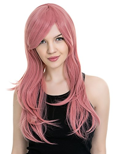 PINKISS High Quality Japanese Lolita Temperament Fashion Cosplay Wig with Free Quality Wig Cap (LS103 / PINK) by PINKISS