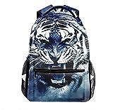 Lightweight Tiger Grin Art Backpacks Girls Outdoor Bags Adults Bookbags