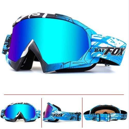 BAT-Fox Ski Snow Goggles Anti-Fog Motorcycle Goggles for Men&Women UV Protection