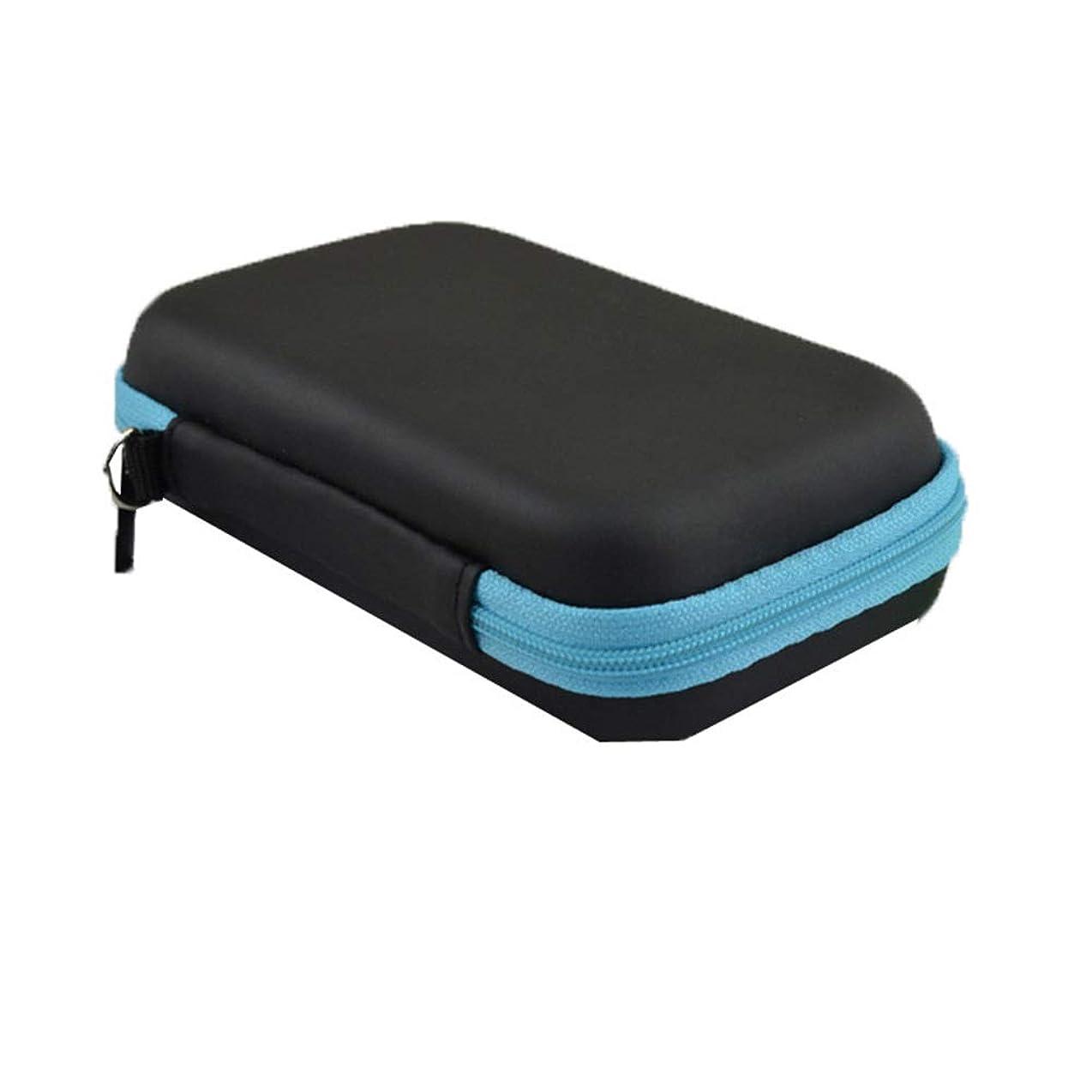 アンタゴニストぺディカブ敏感なケースハードシェルエクステリアストレージOrganizerHolds 1-3MLエッセンシャルオイルキャリングエッセンシャルオイル 香水フレグランス (色 : 青, サイズ : 12X7.5X4CM)