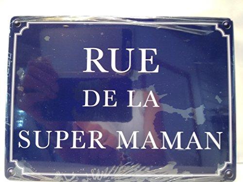 As de coeur Plaque de porte Rue de la super maman