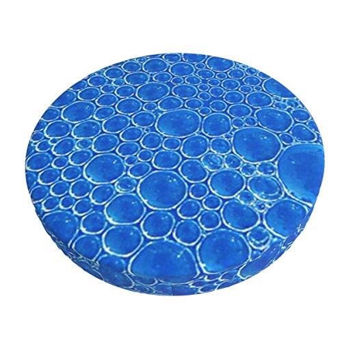 Funda de cojín para Silla de Bar Redonda Lavable y extraíble de Burbujas Azules, Funda de cojín elástica para Taburete, 12 Pulgadas