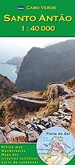 Cabo Verde - Santo Antao 1:40000 (Carte de randonnée et de loisirs du Cap-Vert) de Pitt Reitmaier
