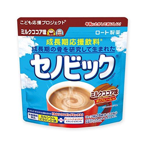 ロート製薬 正規販売店 セノビック 成長期応援飲料 ミルクココア味 1袋 ロート製薬 [6634]