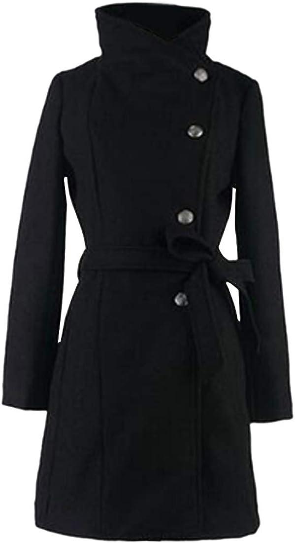Inlefen Women's Solid Color Slim Long Sleeve Jacket Casual Outdoor Coat
