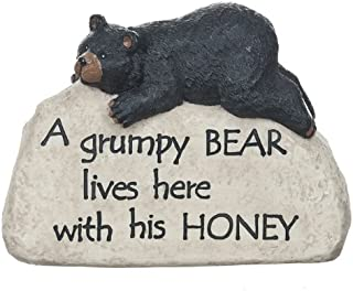 Ganz Lodge Stone Bear Figurine, Polystone