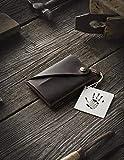 Minimalistischer Brieftasche/Kartenhalter aus Leder Wood Brown, Crazy Horse Leder...