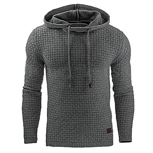 ZWLXY Herren Sweatshirt, Fleece Cardigan Hooded Sweater Jacke Für Die Weekday Party,c,XL
